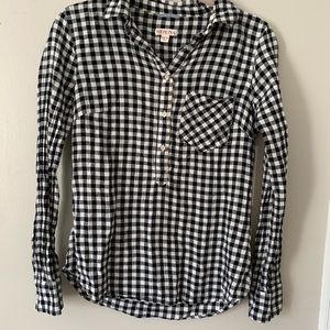 Merona Checkered Blouse